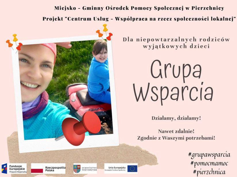 Aktywna izdalna Grupa Wsparcia działająca naterenie gminy Pierzchnica