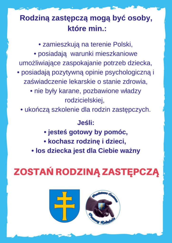 Plakat promujący pieczę zastępczą